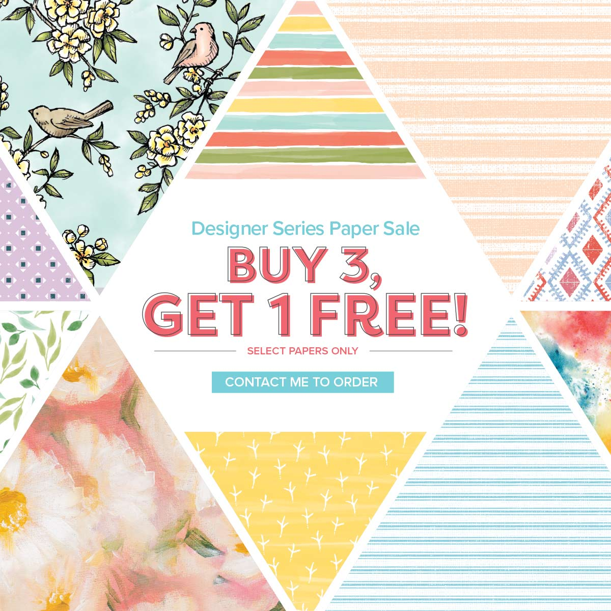 Buy 3 get 1 free designer series paper pack