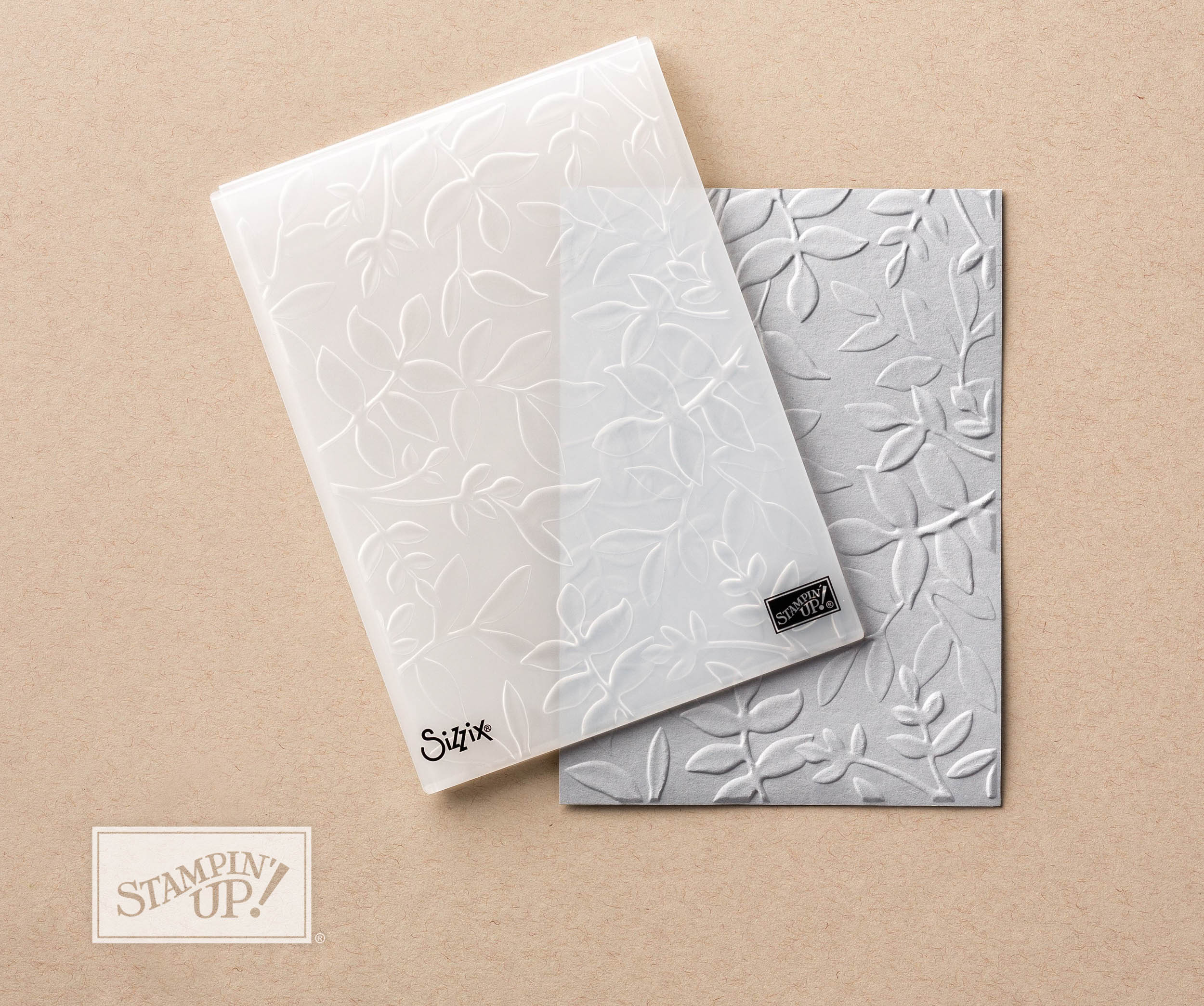 dynamic layered leaves embossing folder