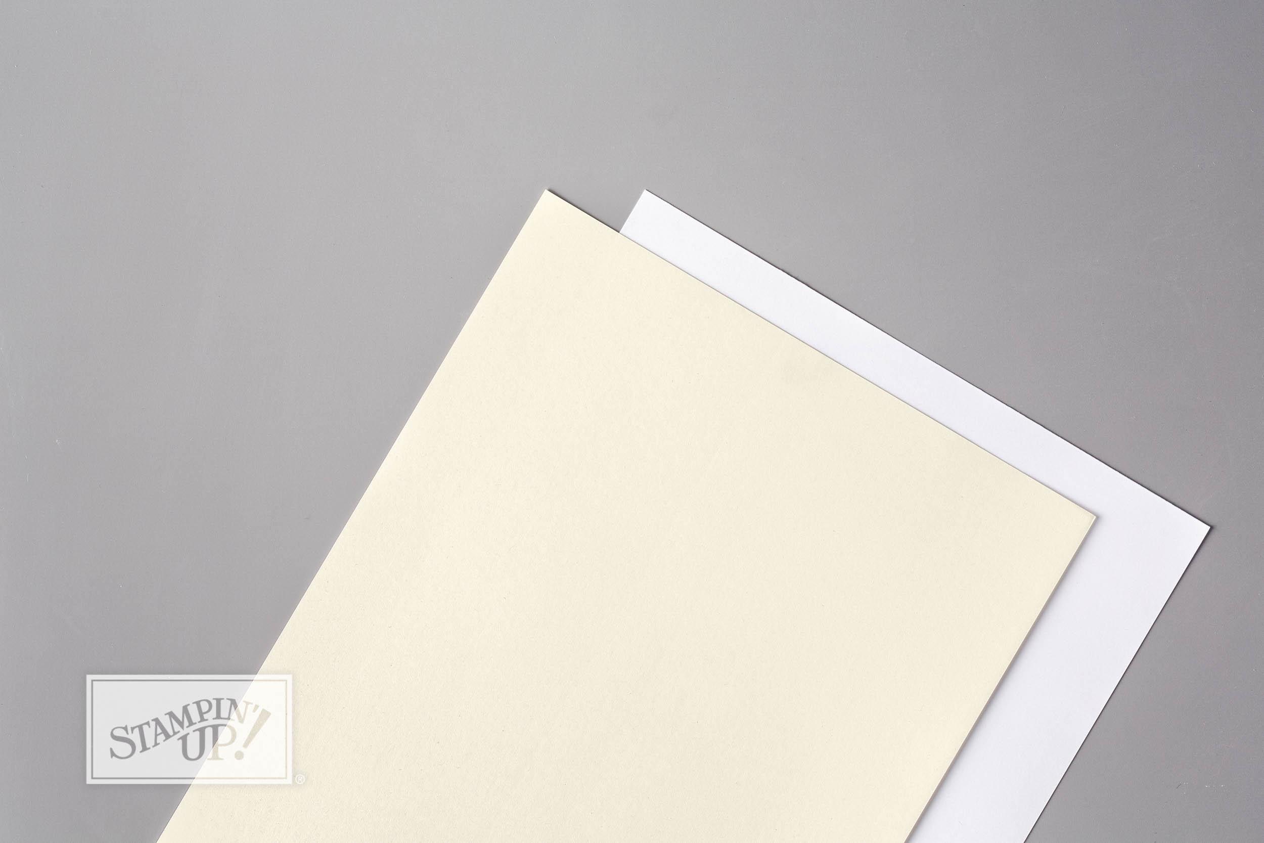 Thick Whisper White cardstock