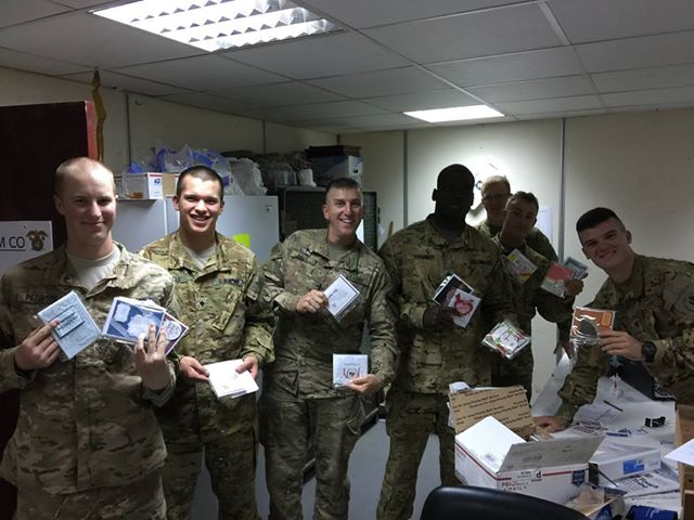 Cards for Troops Drive Recipients