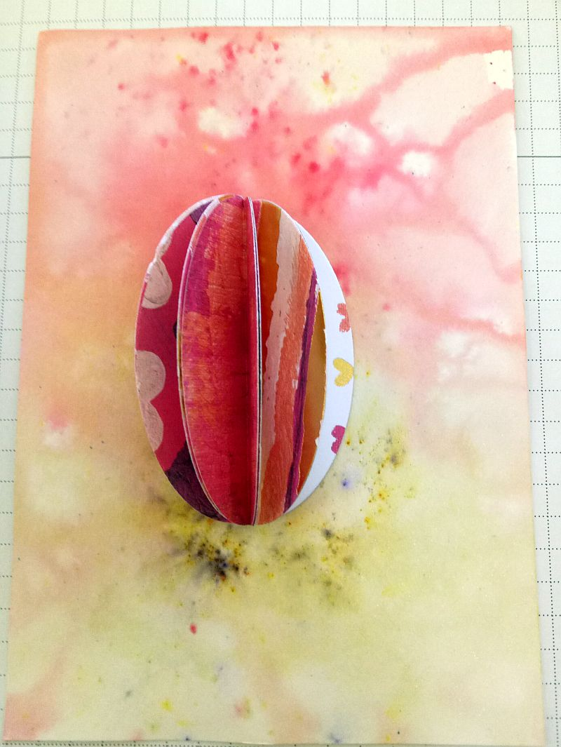 Easter egg Ornament on a card