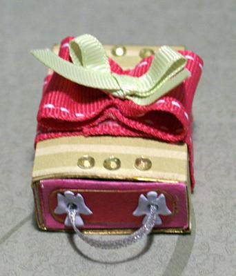 A decorated match box