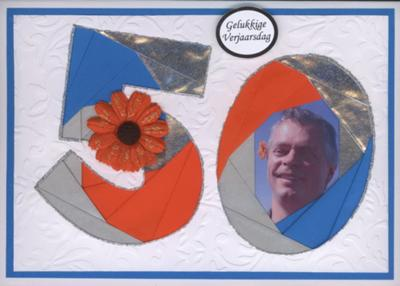 Iris Fold 50th Birthday Card