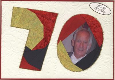 70th Birthday Card using Iris Folding Technique