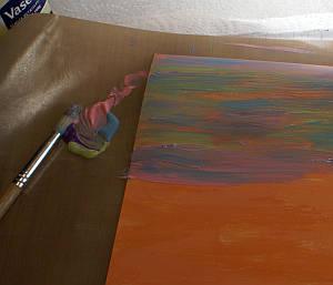 peeling paint