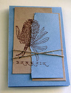 Easter greeting card made with wildflower stamp set