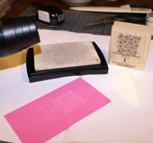 Stamps craft 1, stamping art, stamping with bleach