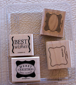 Curly Label Stamp Set