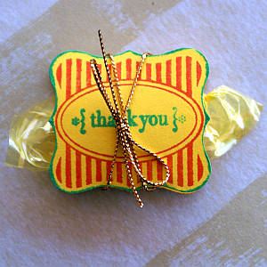 candy thank you, candy party favor, party favours
