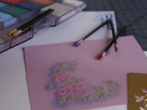 dry embossing, handmade greeting card, papercraft