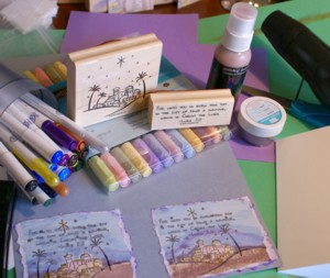 Watercolor cards, Christmas cards, handmade greeting cards