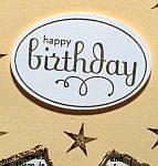 Birthday card sentiment