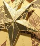 Embossed star decoration
