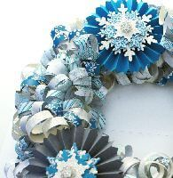 Paper strip wreath detail