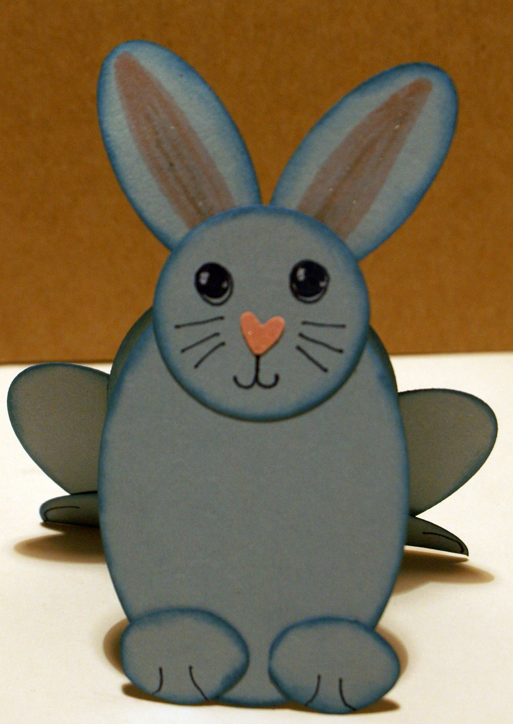 Punch art paper bunny closeup.