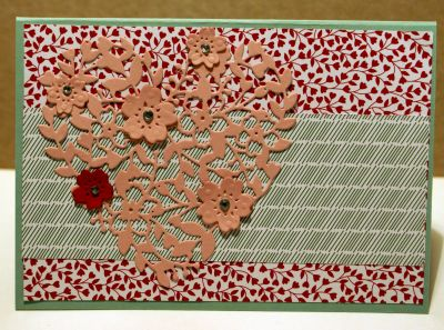 Bloomin' Heart Thinlit Dies and Love Blossoms Designer Series Paper Stack handmade greeting card for Easter
