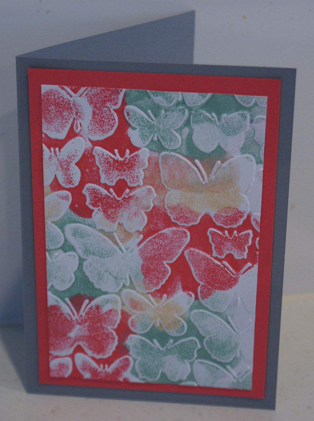 Ink and embossing creative challenge