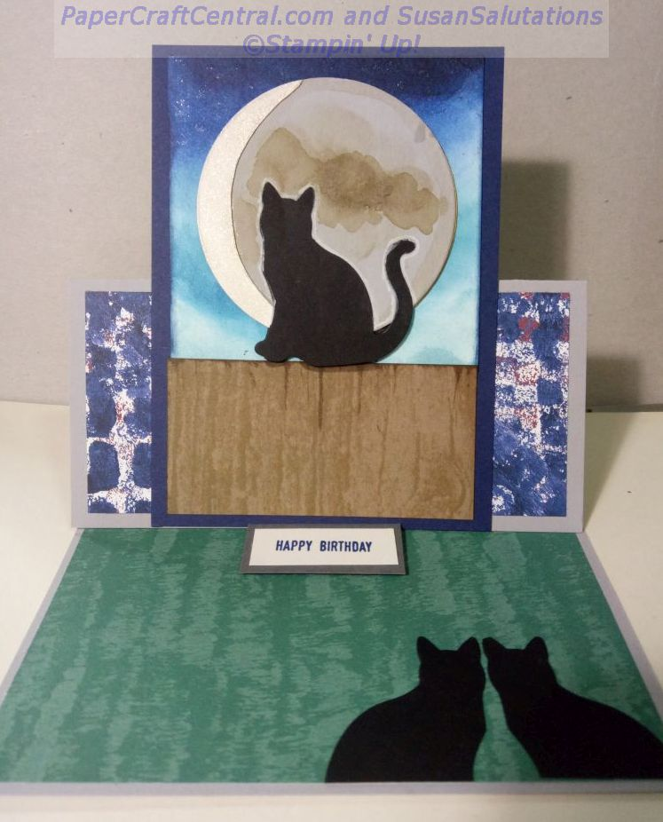 Cat Punch Easel Card