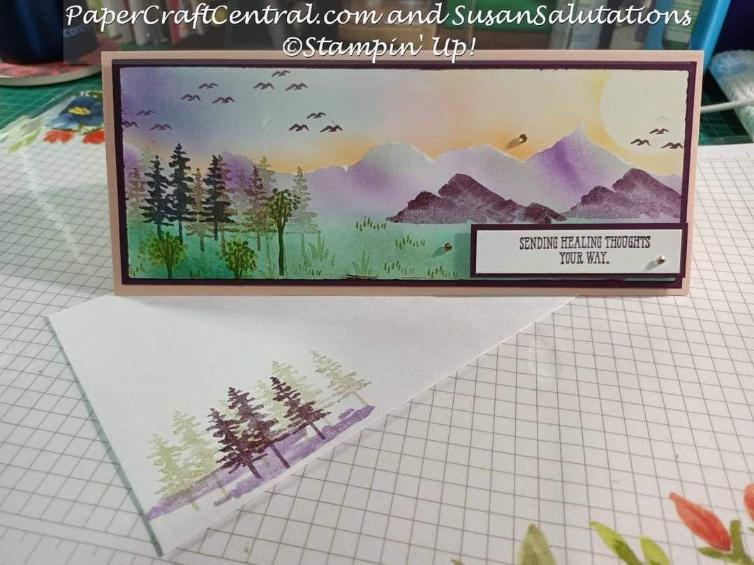 Waterfront Stamp set slim line card