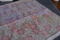 faux silk technique, papercraft, handmade greeting card