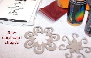 flower embellishments, flocking powder, card making
