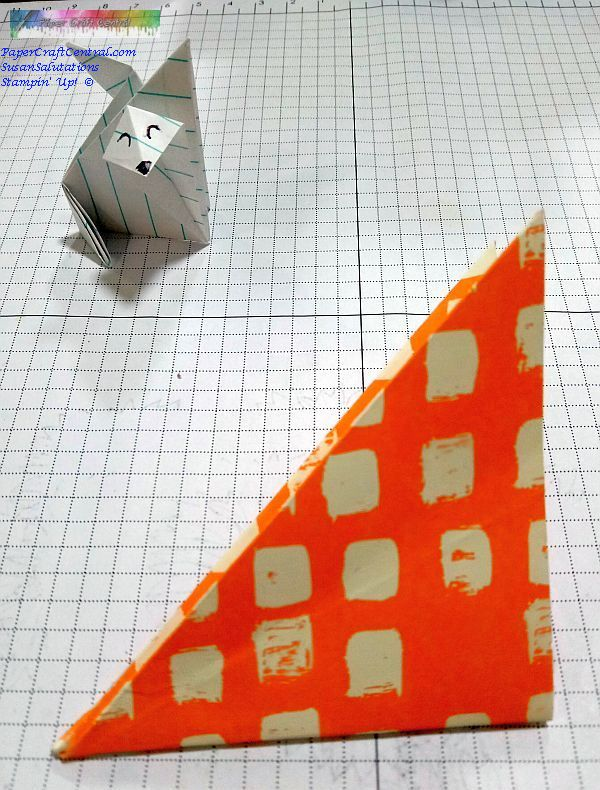 Origami fold for fox