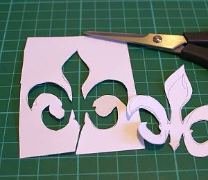 My fleur-de-lis was hand drawn