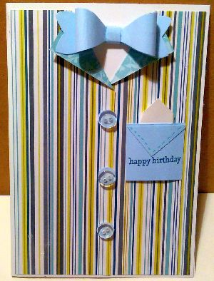 Make an easy paper shirt card for the faviurite man in your life for a brthday, Father's Day or any other special occasion