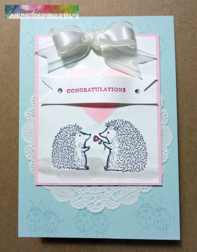 Cute Hedgehog wedding card.