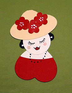papercraft ladies, punch art, Hearty Ladies, papercraft ideas, punch art