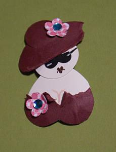 papercraft ladies, punch art, Hearty Ladies, papercraft ideas, punch art