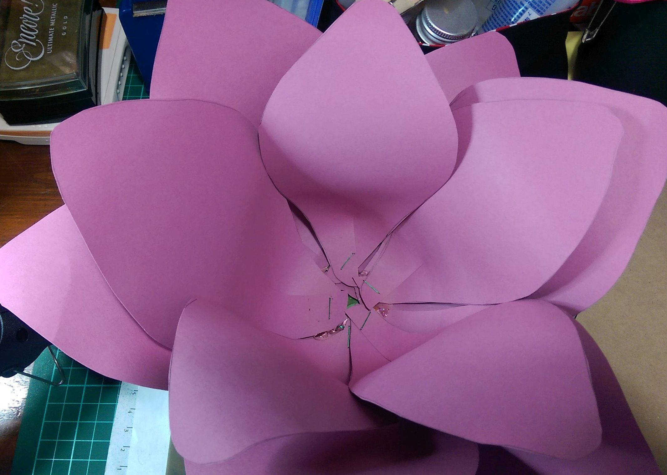 Giant paper flower layers'