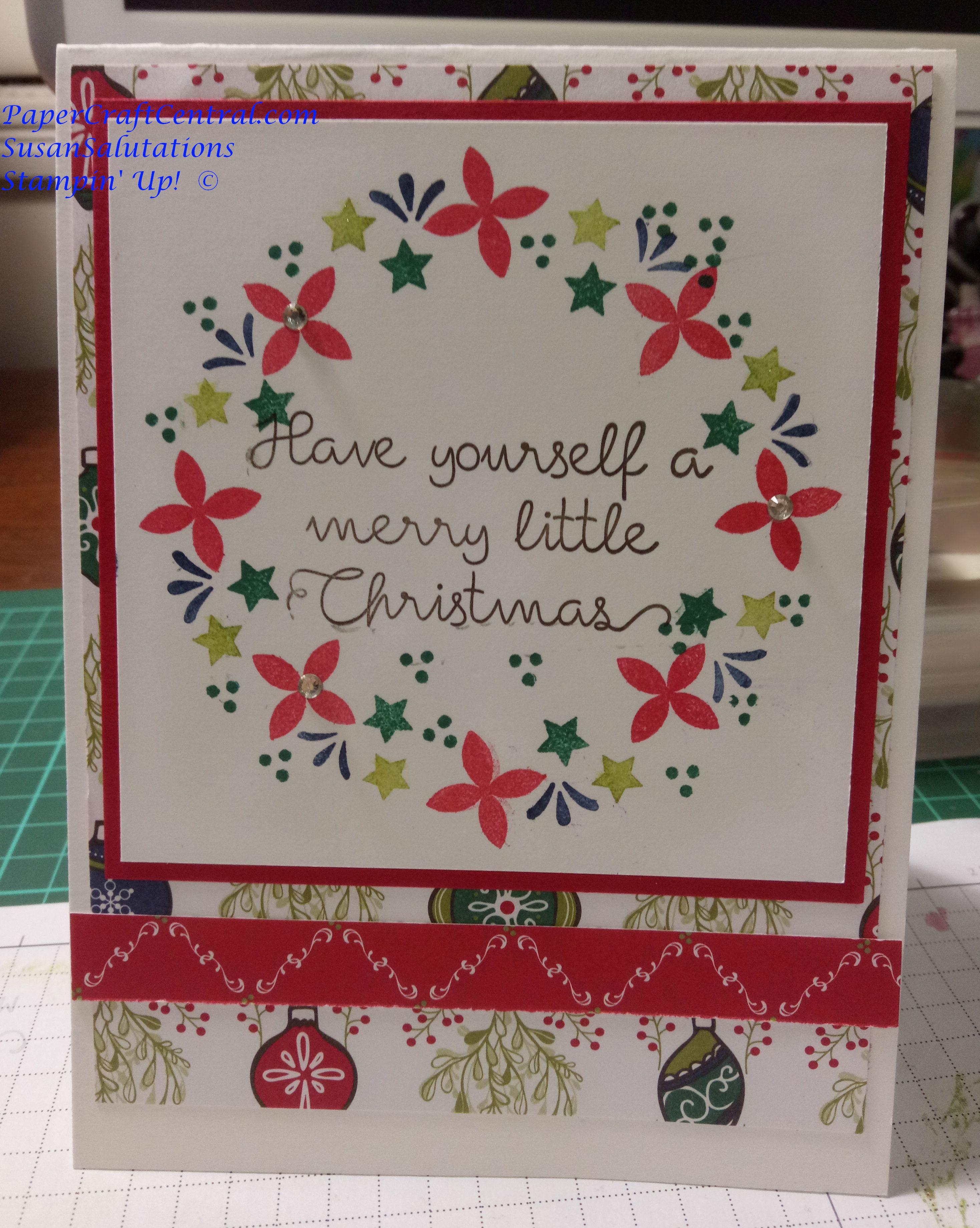 Stamparatus Wreath Card