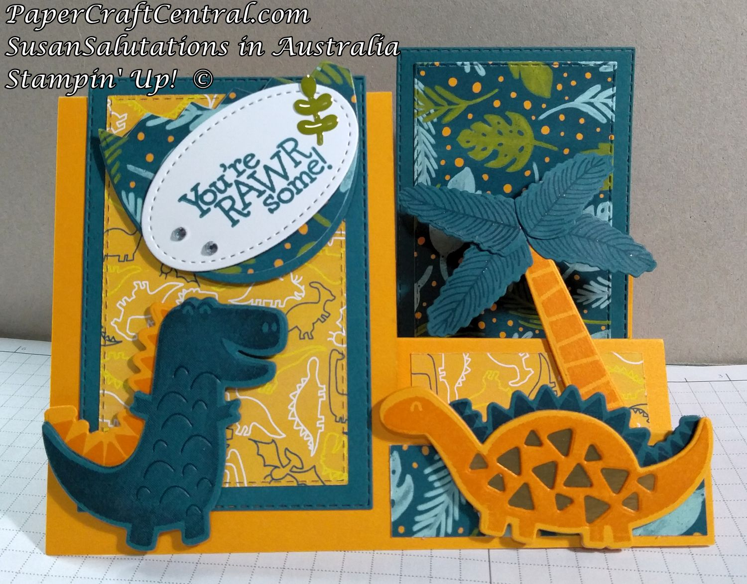 Dino Days Stair Step Card