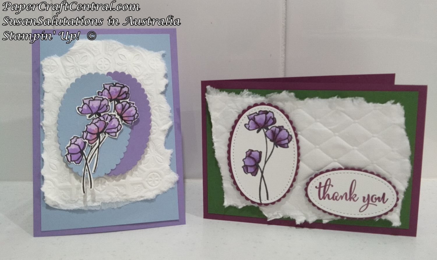 Embossed Tissue Cards