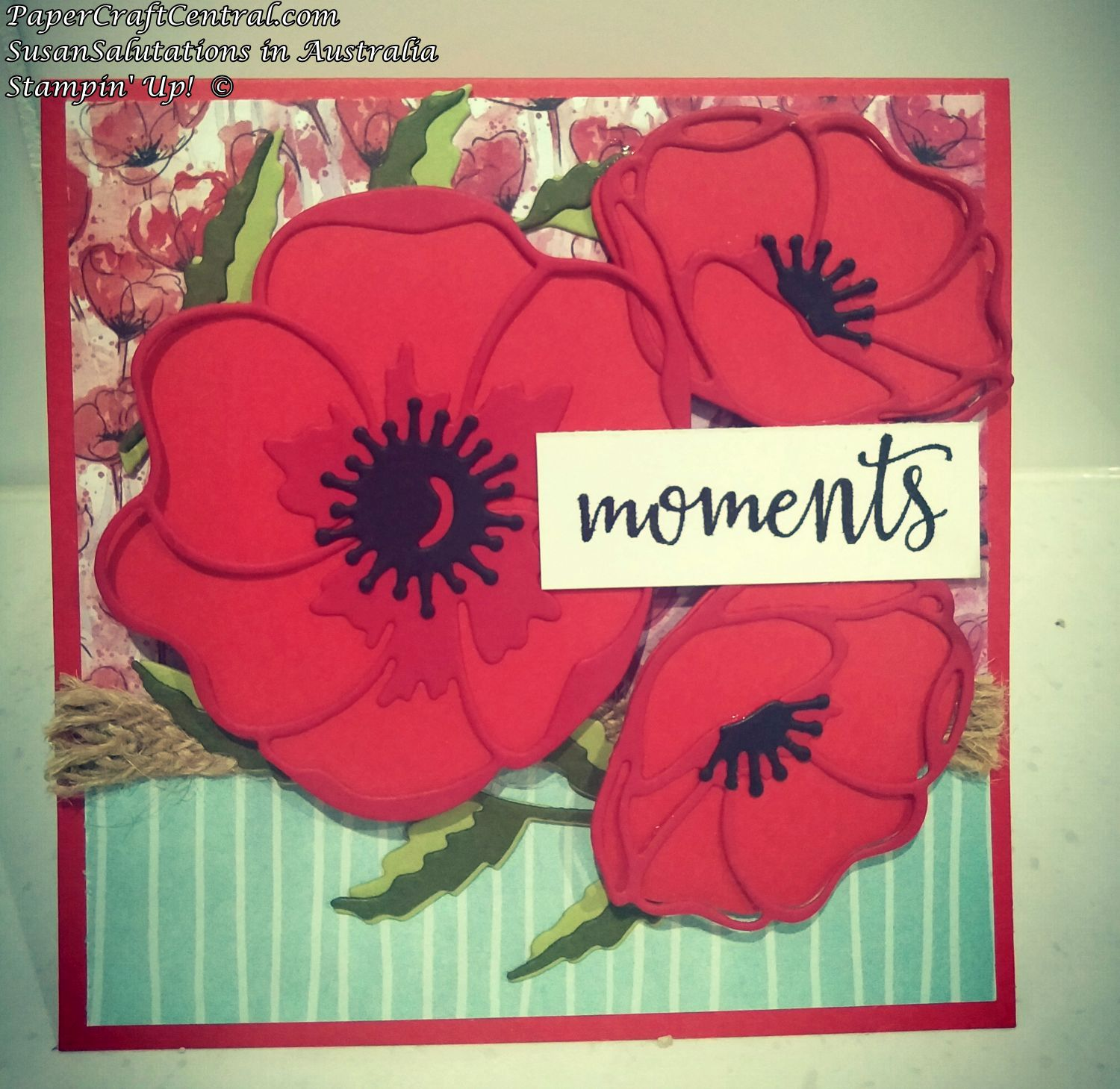 Peaceful Poppies Card Idea