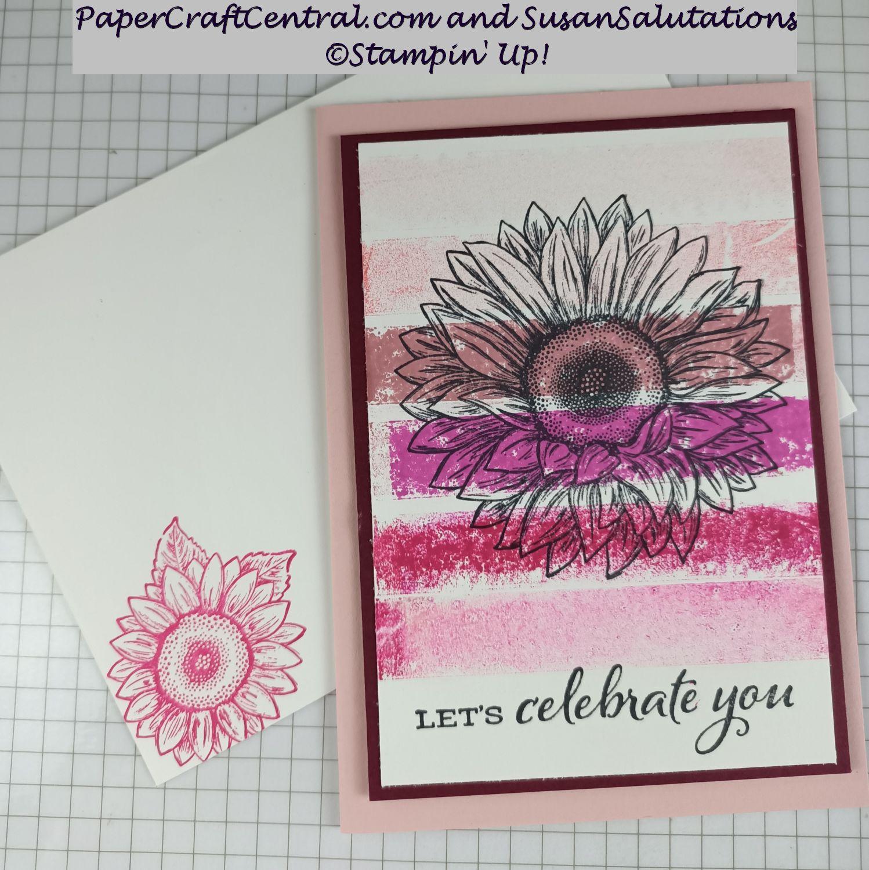 Sunflower Washi Tape Card