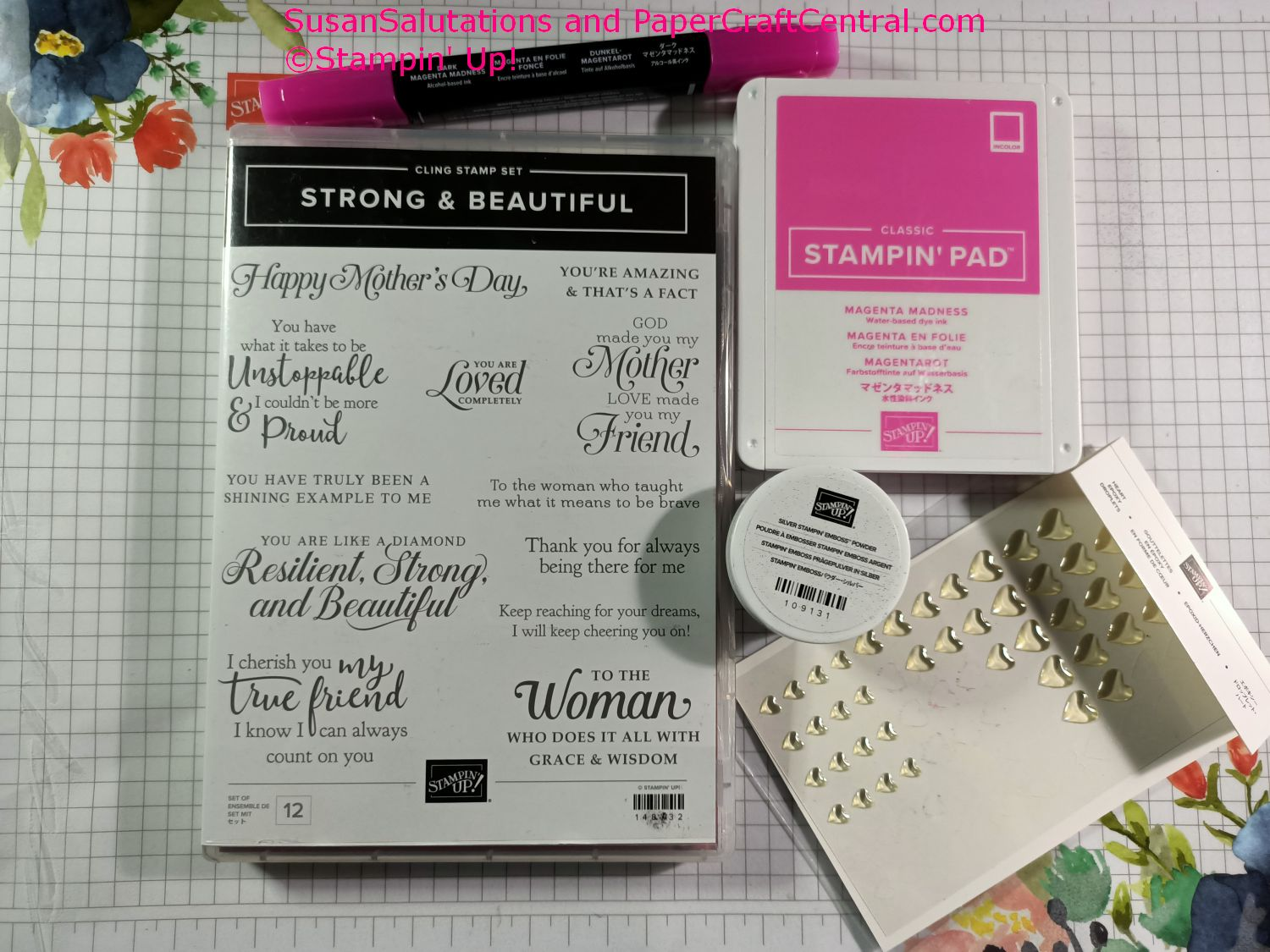 Strong and Beautiful Stamp Set