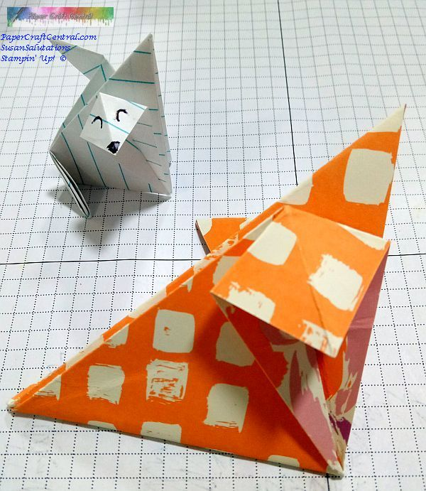Origami Fox (face) | Origami simple, Instructions d'origami, Art ... | 691x600