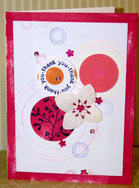 stamps craft 2, thank you card, card making ideas