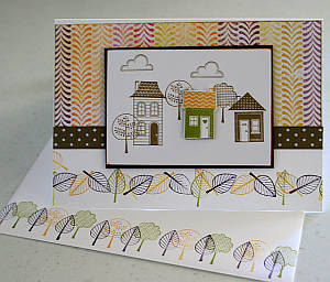 new home card, handmade greeting, cardmaking, rubber stamping