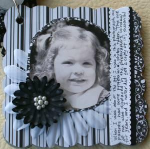 nostalgic circle journal, retro, vintage album, scrapbook