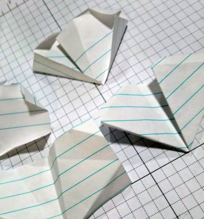 Folding paper practice components