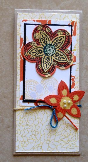 April 2012 creative challenge, stamping with bleach, card making, stamping art