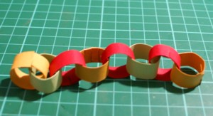 paper chain, paper decorations, papercraft