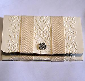 paper wallet, handmade wedding cards, designer paper, embossing folder, Big Shot