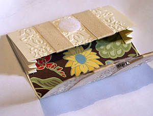 paper wallet, handmade wedding cards, designer paper, embossing folder, Big Shot