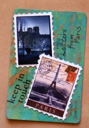 paris atcs, atc, artist trading card, swaps, papercraft