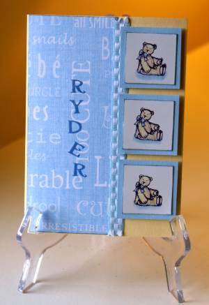 baby card 2, card making, scrapbooking, papercraft