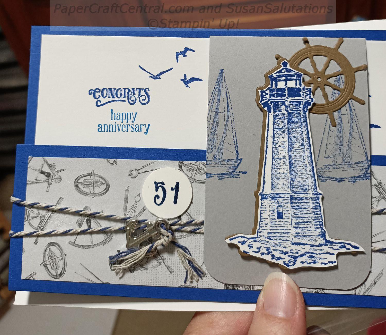 Sail Away Anniversary Card